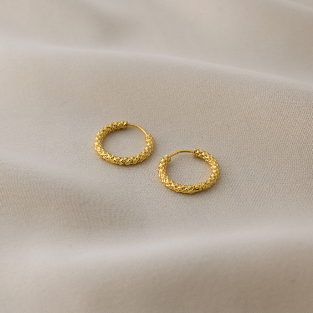 Sincerely Danicka Earrings Collection Courageous Gold