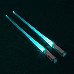 1 Pair LED Light Up Chopsticks Sticks Dinner Tableware Accessories Funny New Year Party Supplies 7 Colors Drop Shipping