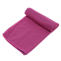 1PC Sports Gym Towel Sweat Absorption Jogging Enduring Running Ice Cold Chilly Pad Cooling Towel 100x30cm Microfiber Gym Towel