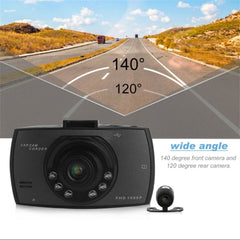 2.7 Inch Full HD 1080P LCD Double Lens Car Dash Camera G30 Video DVR Cam Recorder With Night Vision G-Sensor Dash Cam