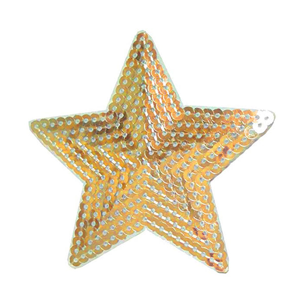 Gold Sequin Star Patch