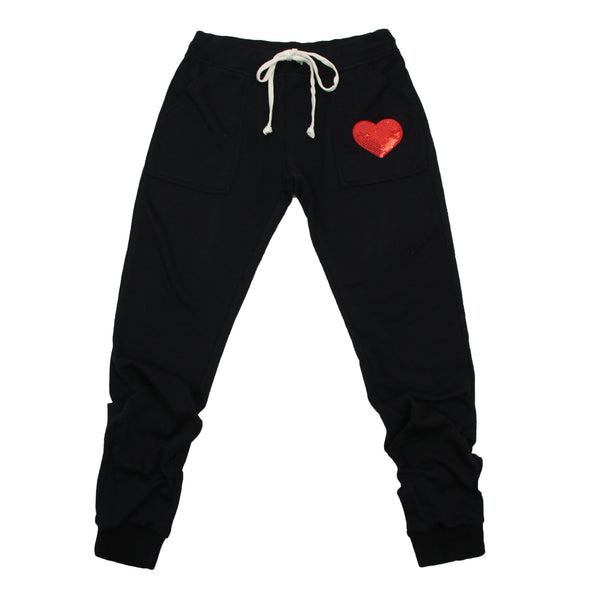 Sequin Heart Everyday Mom Joggers