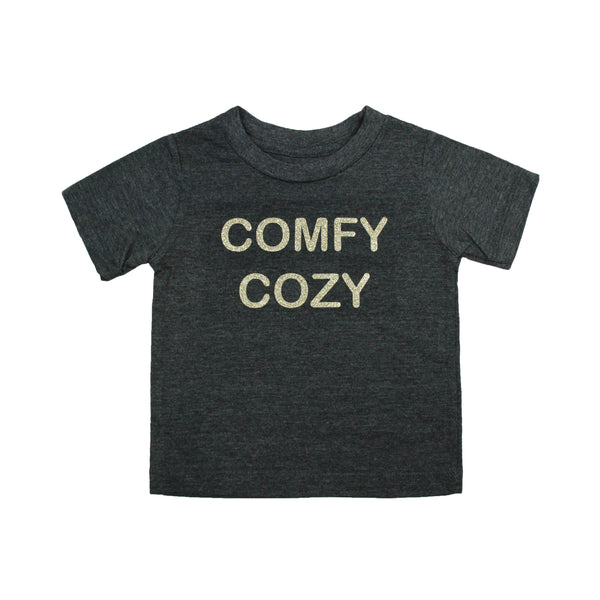 Little Girls Comfy Cozy Crew Tee