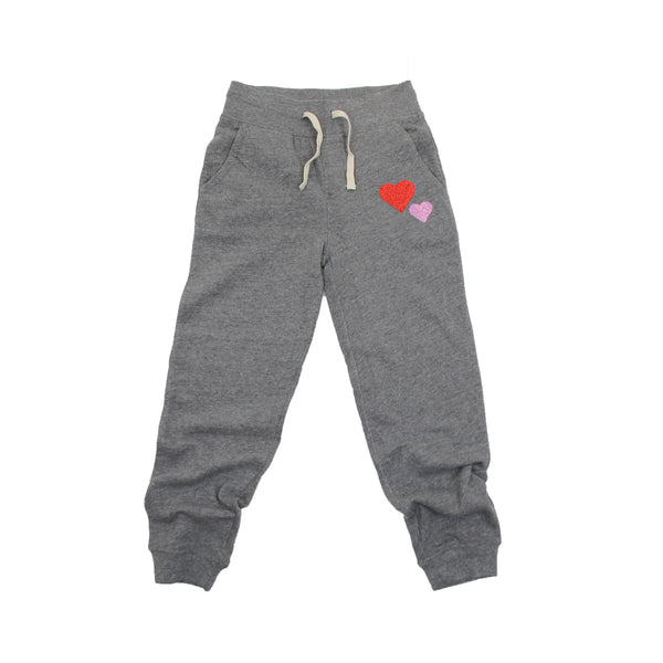 Girls Double Heart Everyday Joggers