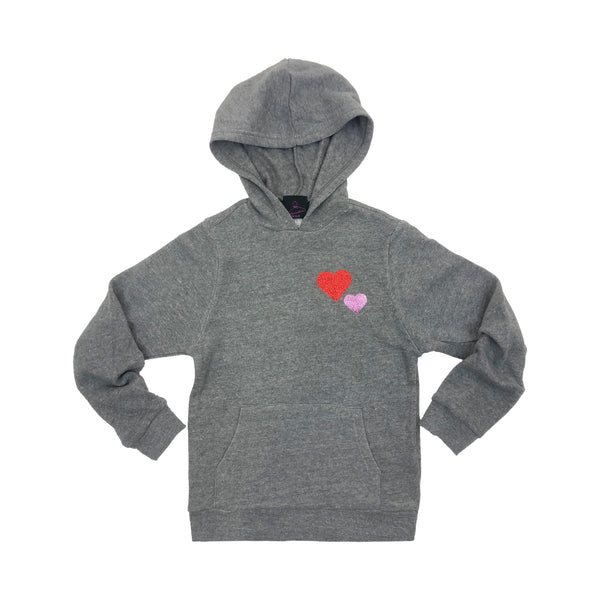 Girls Double Heart Hoodie