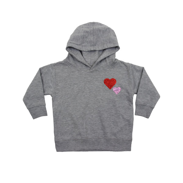 Little Girls Double Heart Hoodie