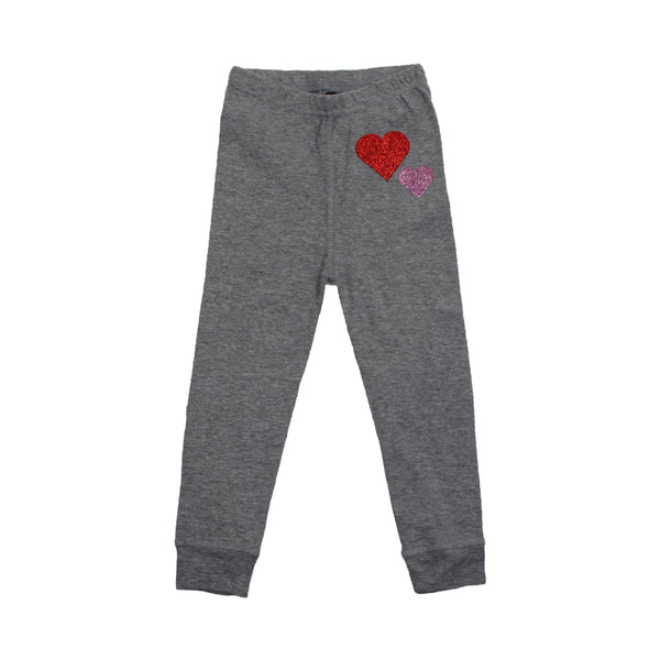 Little Girls Double Heart Everyday Joggers