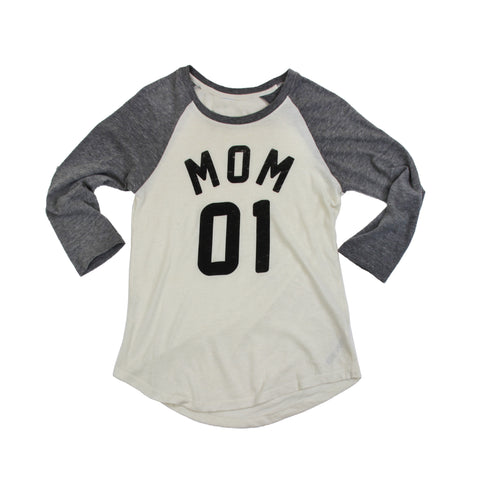 Team Mom Vintage Raglan
