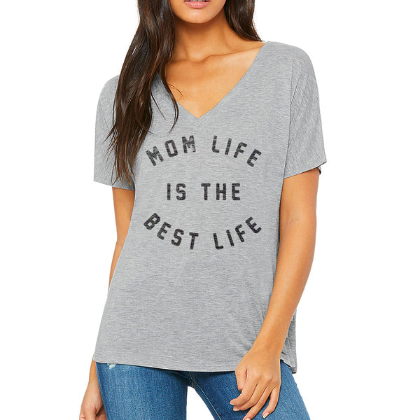 Best Life Slouchy V Neck Tee
