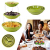Household 3-layer Round Folding Bowl