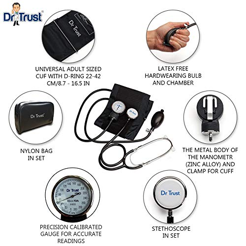 Dr Trust Manual Blood pressure monitor with stethoscope
