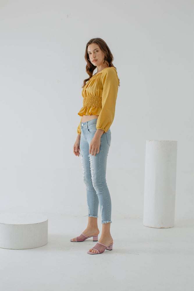 Marbelle Top In Yellow