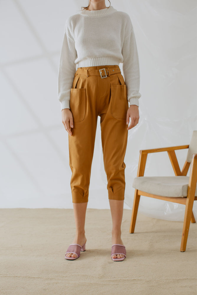 Ysabell Pants in Brown