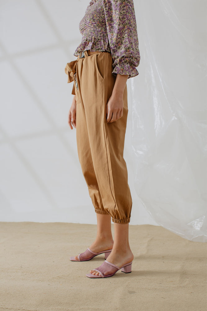 Shawntel Pocket Pants in Brown