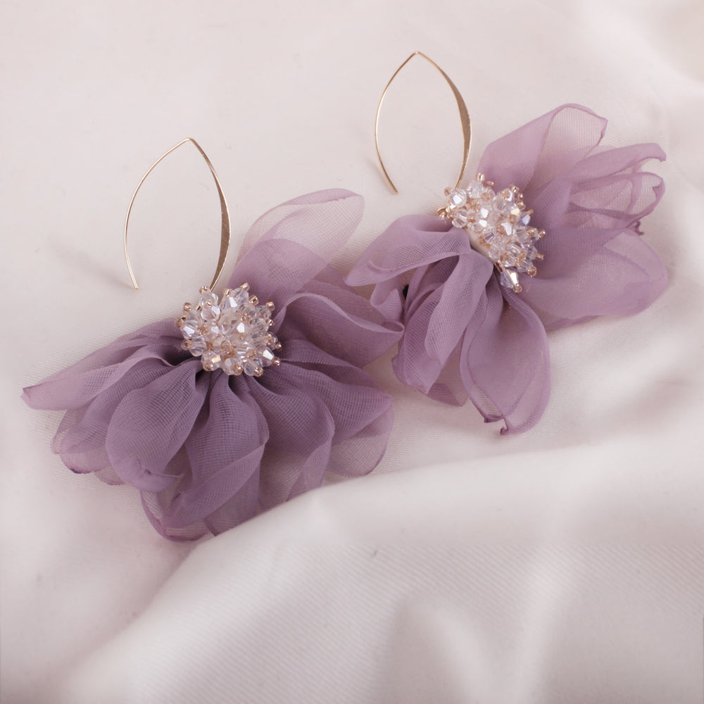 Purple Gala Earrings