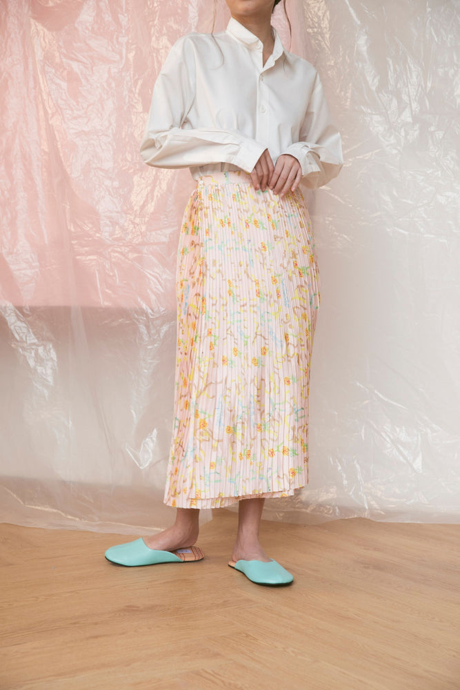 Peach Sorbet Pleated Skirt