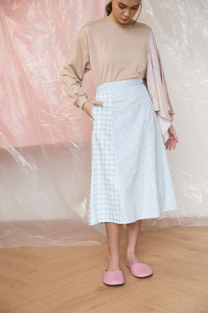 Pique Skirt in Blue