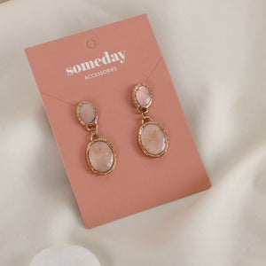 Nude Crystal Earrings