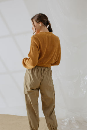 Load image into Gallery viewer, Sophie Knit Sweater In Tangerine