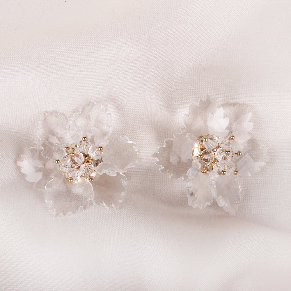 Load image into Gallery viewer, Florin Clear Earrings