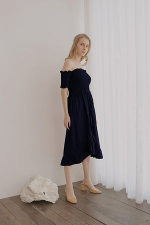 Athena Smock Navy Dress