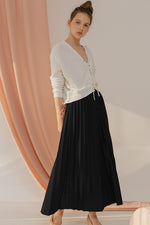 Bianca Black Pleats Skirt