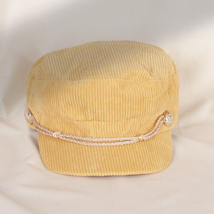 Load image into Gallery viewer, Yellow Military Hat