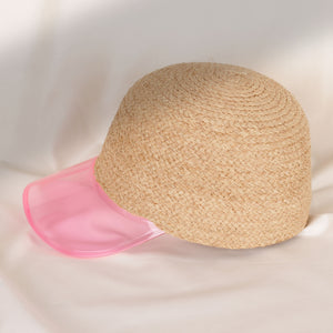 Load image into Gallery viewer, Rattan Pink Clear Hat