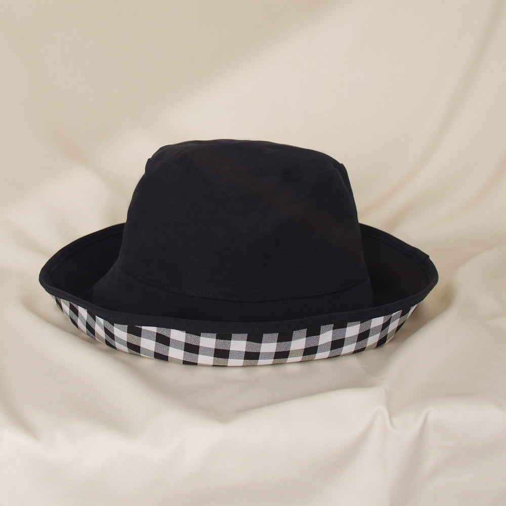 Load image into Gallery viewer, Black Plaid Bucket Hat