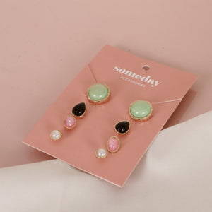 Load image into Gallery viewer, Pearl Tears Sets Earrings