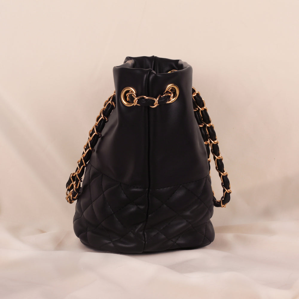 Rocky Black Chain Bag