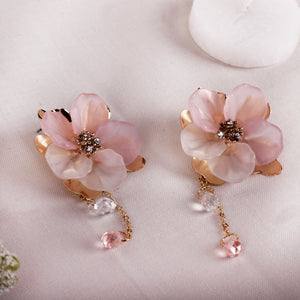 Load image into Gallery viewer, Chain Flower Earring