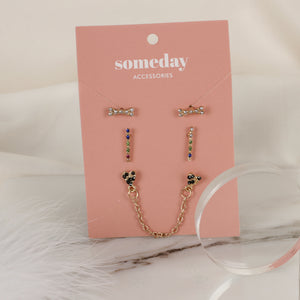 Threeset Bone Earring