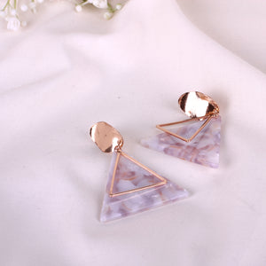 The Gold Triangle Earrings