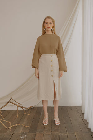 Ereyna Light Brown Knit Sweater
