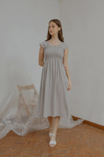 Ingrid Smock Dress in Grey