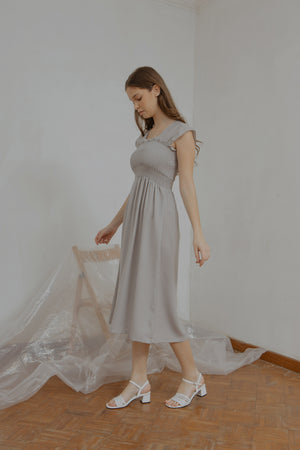 Load image into Gallery viewer, Ingrid Smock Dress in Grey