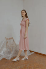 Ingrid Smock Dress in Pink