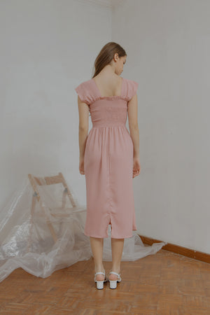Load image into Gallery viewer, Ingrid Smock Dress in Pink