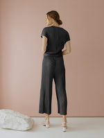 Velery Pleats Jumpsuit in Black