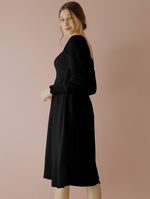 Jehane Black Smock Dress