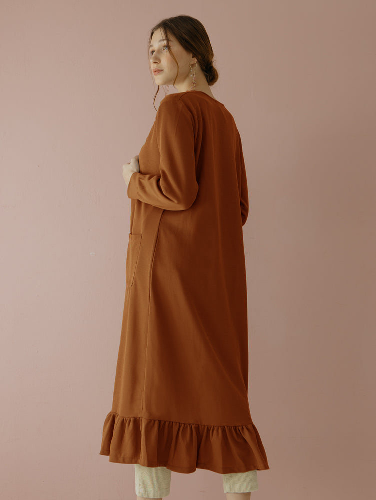 Load image into Gallery viewer, Casbia Long Cardigan Brick
