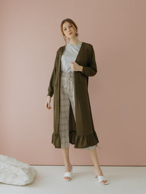 Casbia Long Cardigan Green