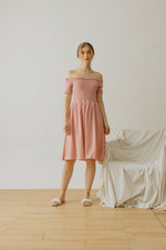 Maurice Smock Dress Pink