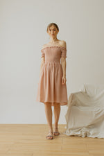 Maurice Smock Dress Dusty Pink