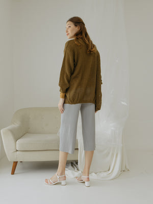 Tyana Olive Knit Wear Cardigan