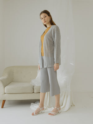 Tyana Grey Knit Wear Cardigan