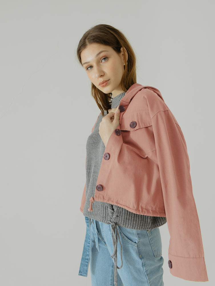 Anne Button Hoodie Jacket