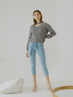 Kyla Ribbon Blue Jeans
