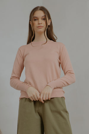 Andrea Button Long Knit Sweater